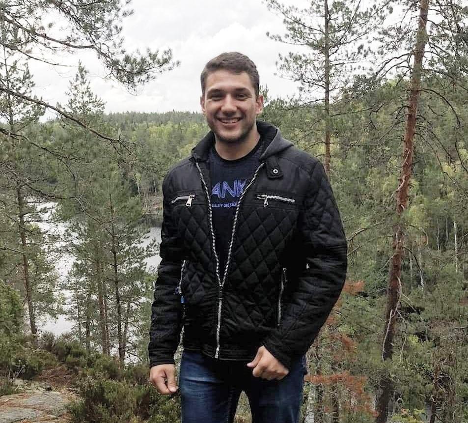 Student Ambassador Mark in forest