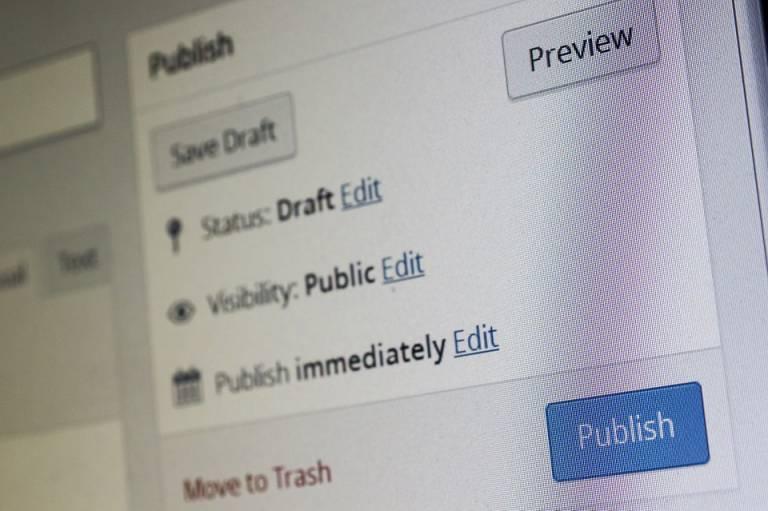 Wordpressin julkaisuvalikko