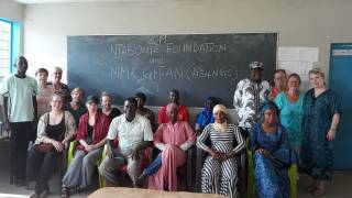 A group of lectures and organizers of the training workshops against female genital mutilation.