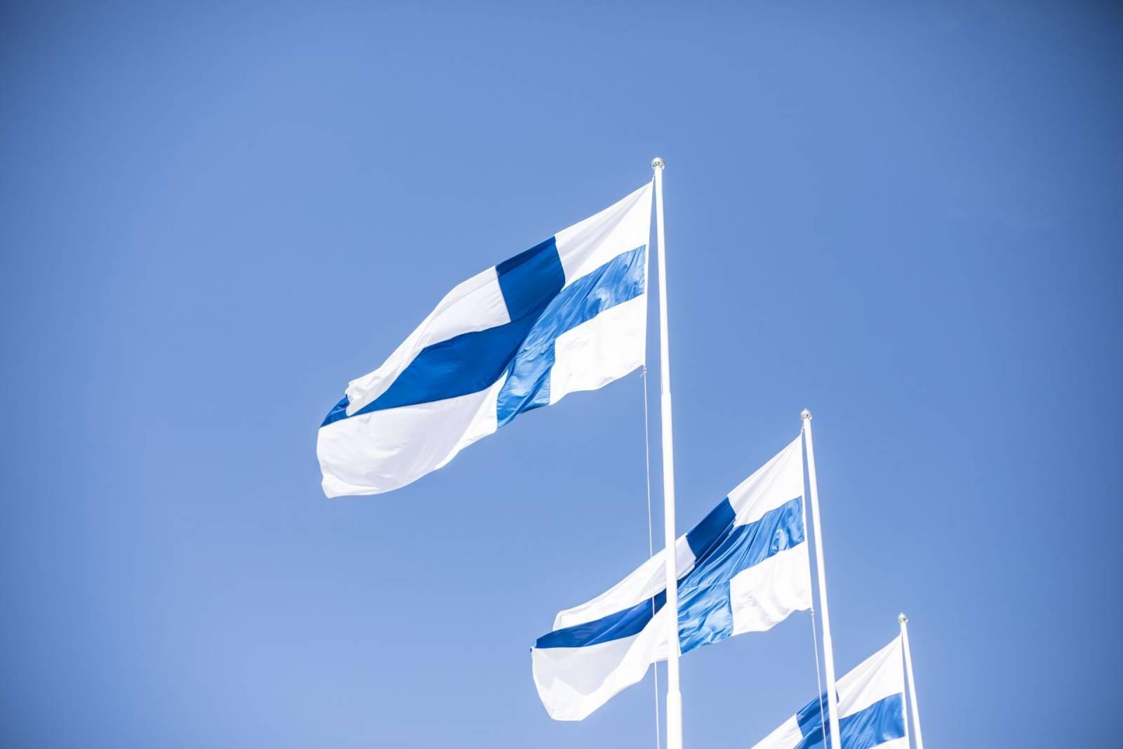 The Finnish flag