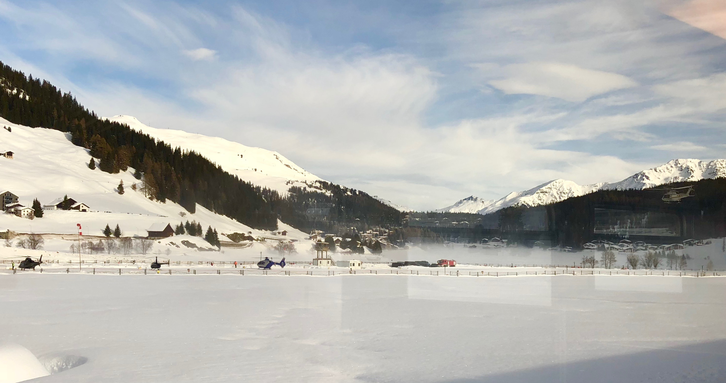 Helicopters in Davos