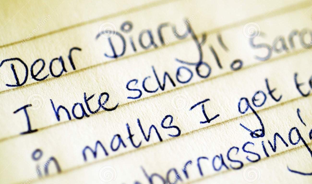 Päiväkirjan sivu.