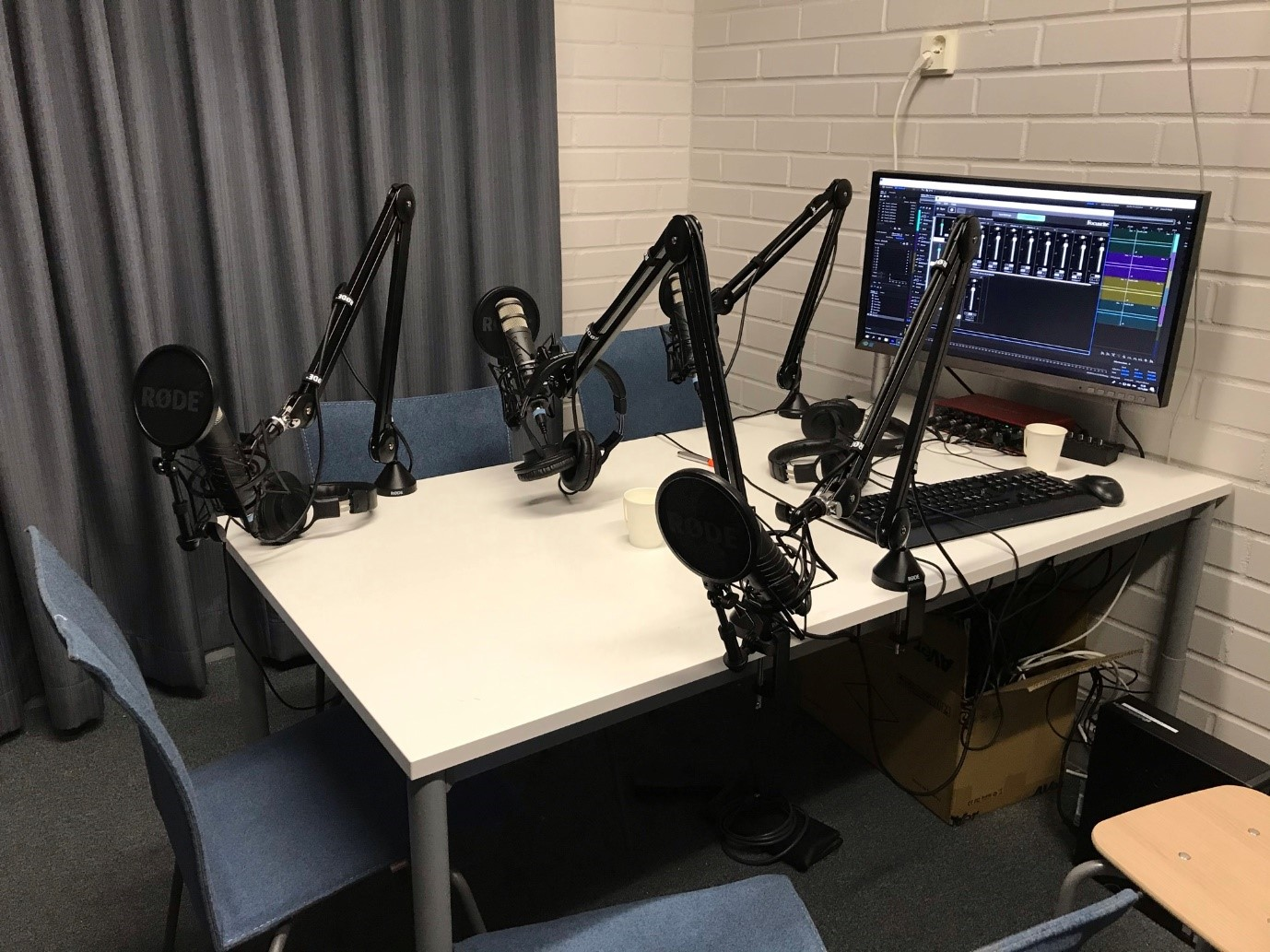 Podcast studio.