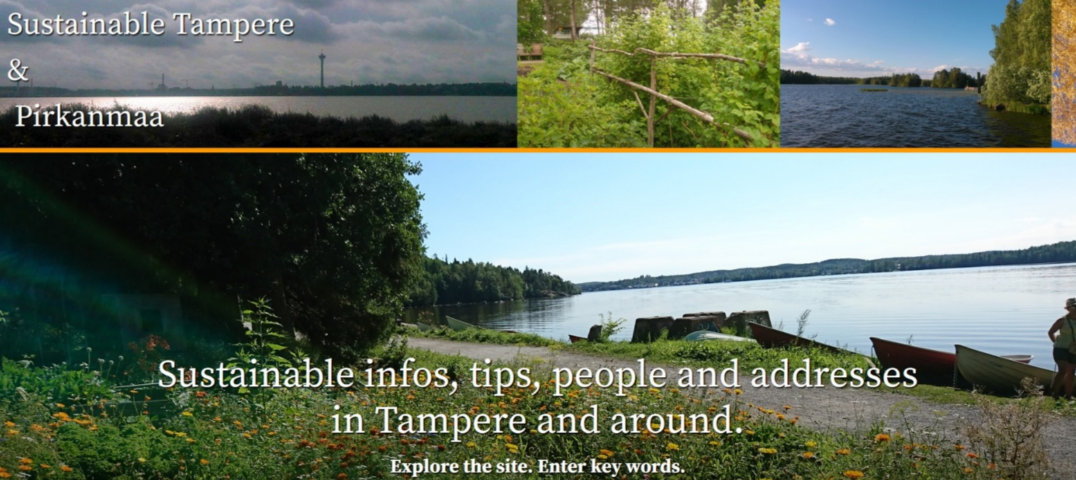 The website of Sustainable Tampere.