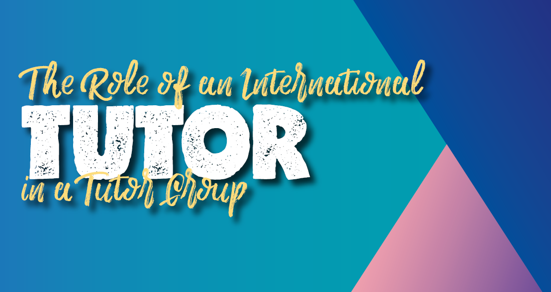 Cover page of a guide for international student tutors by Tampere University.