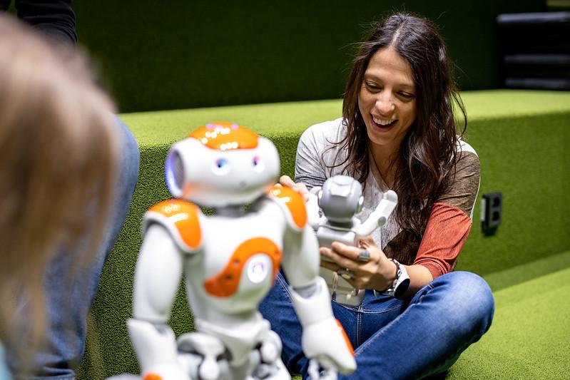 Robot and Valentina Ramirezmillan